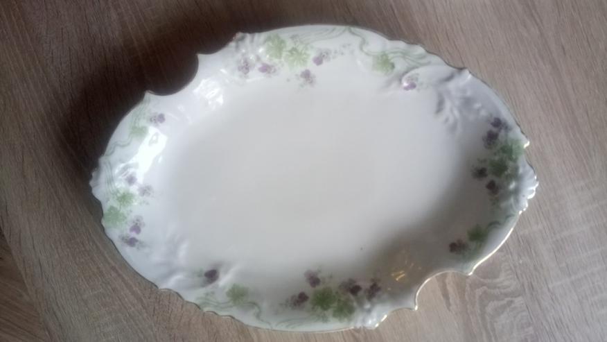 Antike Porzellan Servierteller und Platten