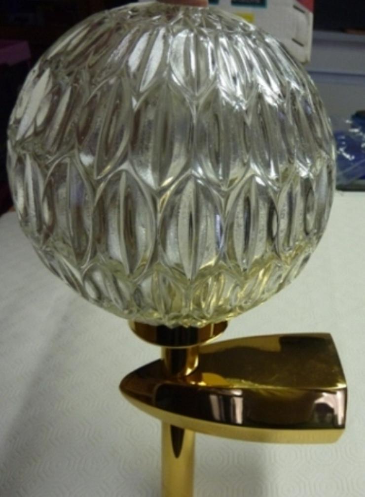 Keuco Wandleuchte – Badleuchte Objekt mit 24K vergoldet Halterung und kugelförmige Glasschirm.