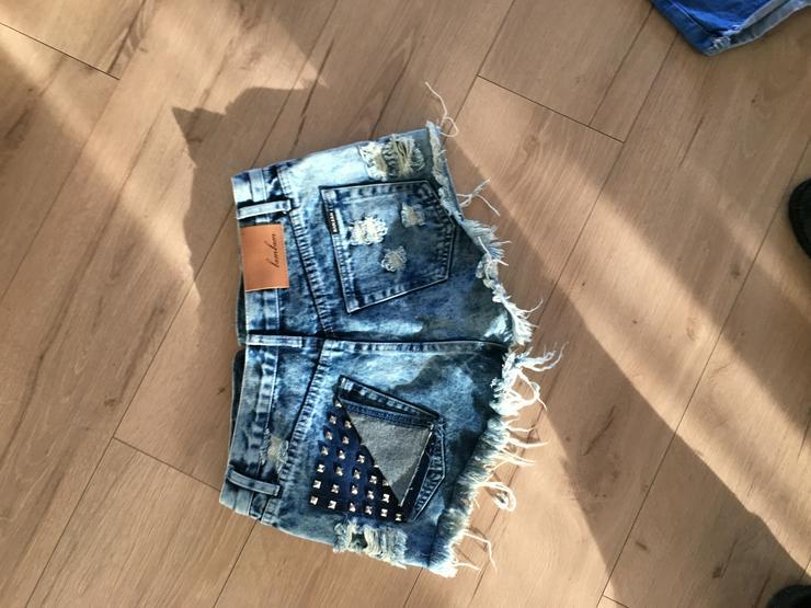 Kurze Jeans von bambam Grösse 10 - W26-W28 / 36-38 / S - Bild 1