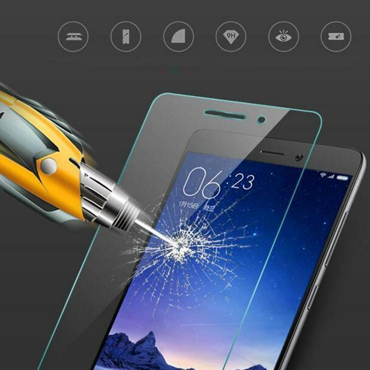 Xiaomi Redmi Note 2 Folie Glasfolie 9H Echtglas Schutzfolie Panzerglas TOP NEU