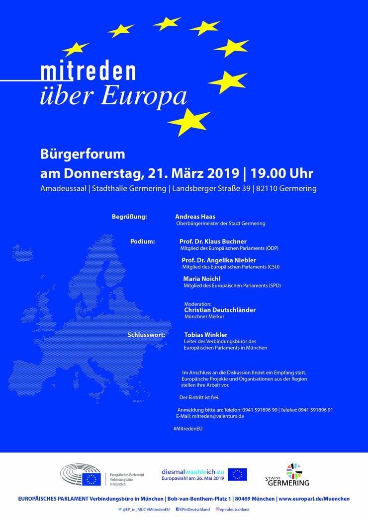 Mitreden über Europa - Bürgerforum in Germering