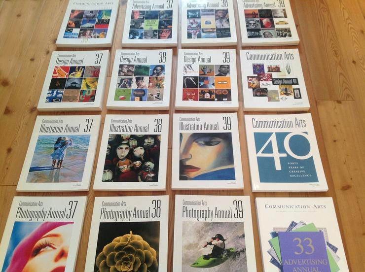 30 Ausgaben der original amerikanischen  COMMUNICATION ARTS  Magazine