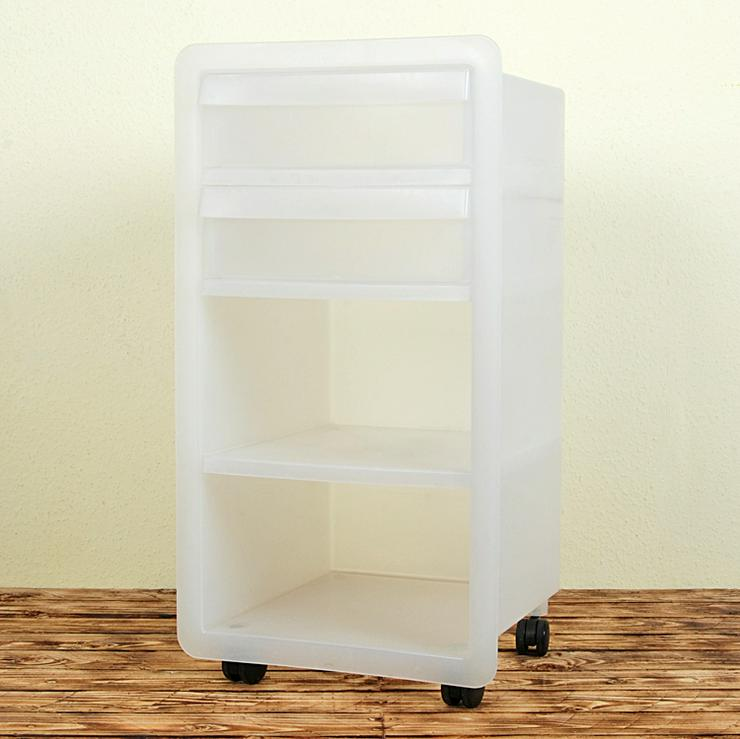 IKEA Rollcontainer Schubladenschrank 18703 Kunststoff weiss Rollen