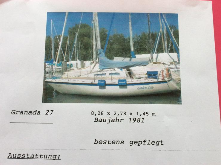 Segelboot Granada 27 mit Teakdec k
