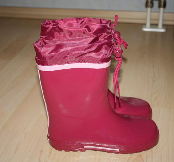 Bild 2: Kinder Gummistiefel Mädchen Regenstiefel Garten pink/rosa 35 NEU