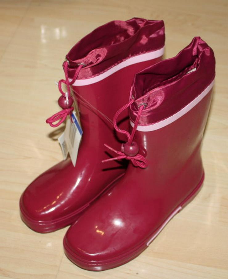 Bild 3: Kinder Gummistiefel Mädchen Regenstiefel Garten pink/rosa 35 NEU
