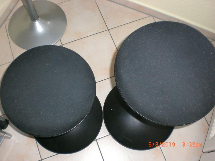 Bild 3: Sitzhocker / Hocker rund in schwarz, höhenverstellbar, 2 Stück – ein Preis.