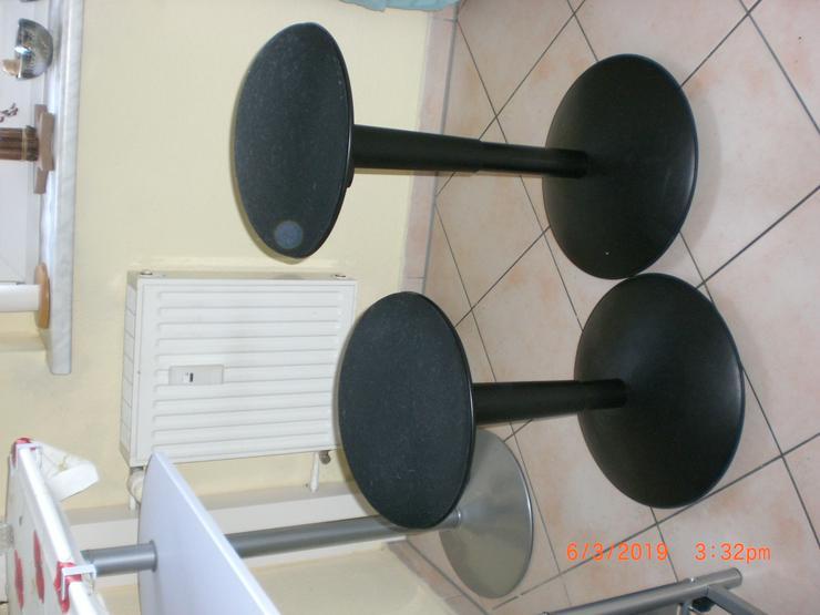 Sitzhocker / Hocker rund in schwarz, höhenverstellbar, 2 Stück – ein Preis.