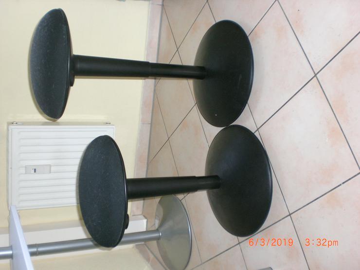 Bild 2: Sitzhocker / Hocker rund in schwarz, höhenverstellbar, 2 Stück – ein Preis.