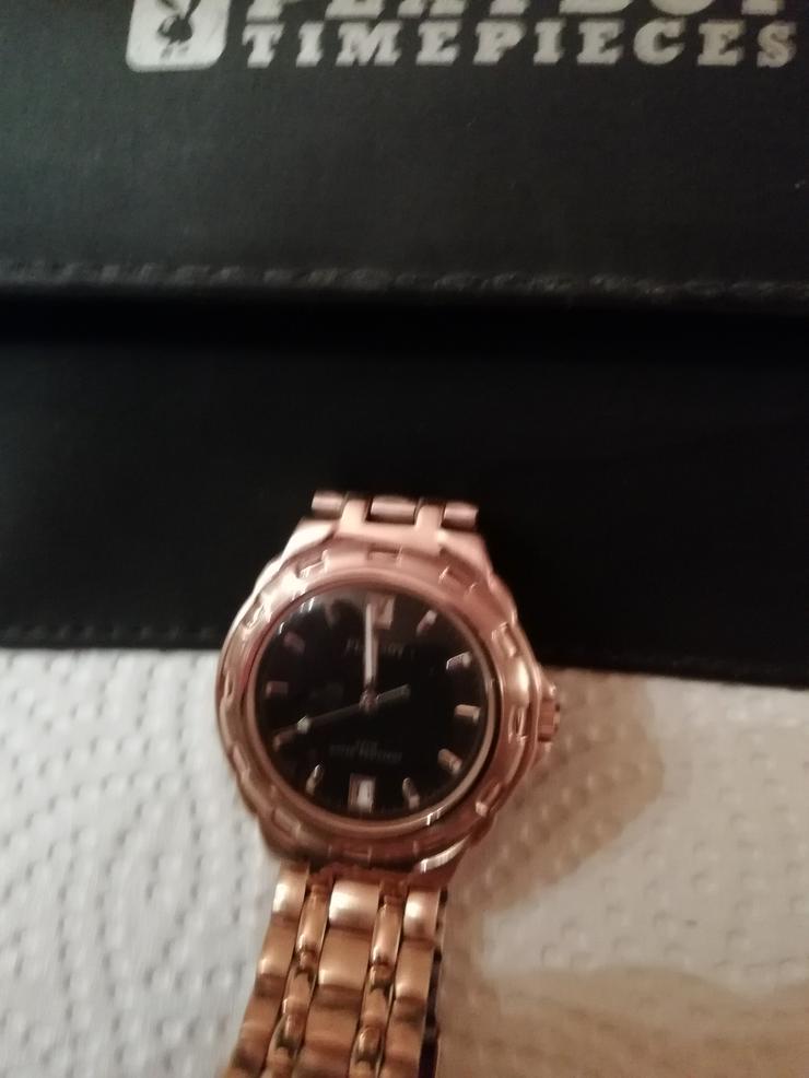 Verkaufe meine Neue Playboy Herrenarmbanduhr vergoldet für 35,00€
