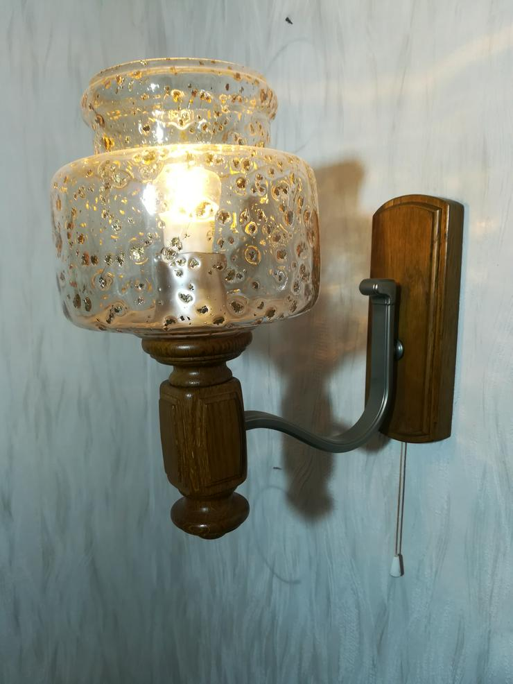 Wandlampe Glas mit Messing Einschlüssen