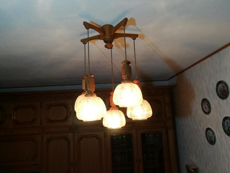 Esszimmer Deckenlampe Hängeleuchte 5-flammig Eiche rustikal