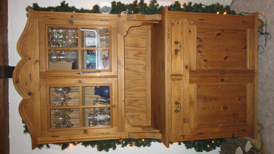 Wunderschöne alte Echtholz Küchenanrichte Küchenbuffet Vitrine