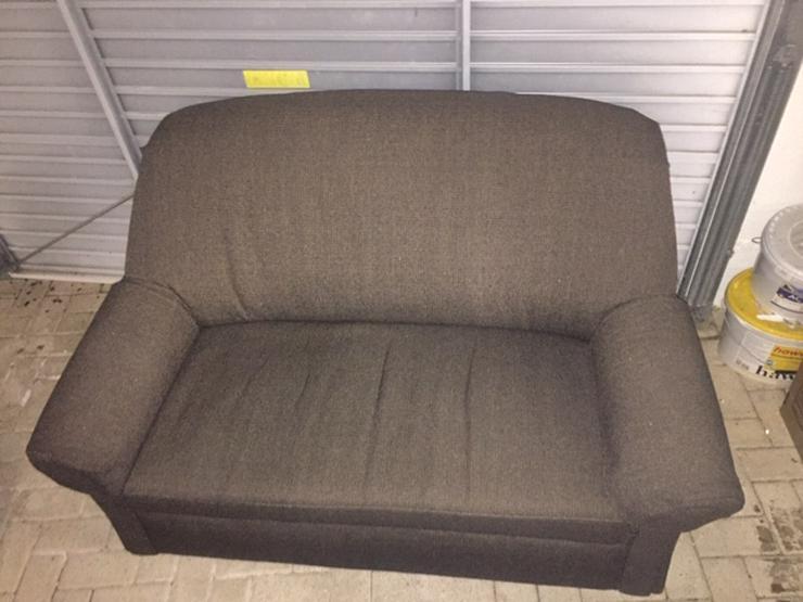 3er Couch mit ausziehb.Bett und 2er Couch wie neu , braun pflegeleicht Bezug