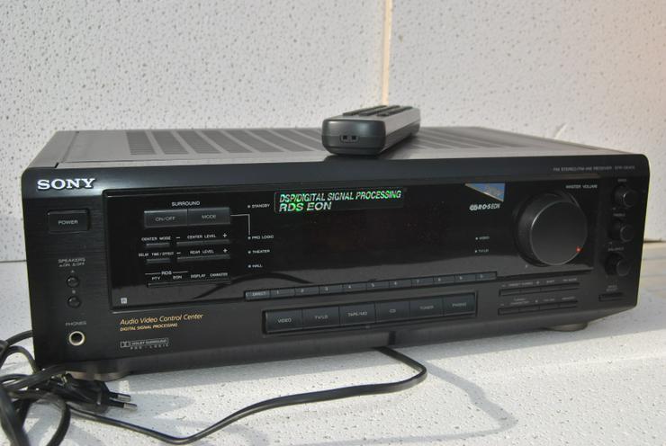 Bild 4: Sony STR-DE 405 Stereo / Dolby Surround Receiver mit Fernbedienung