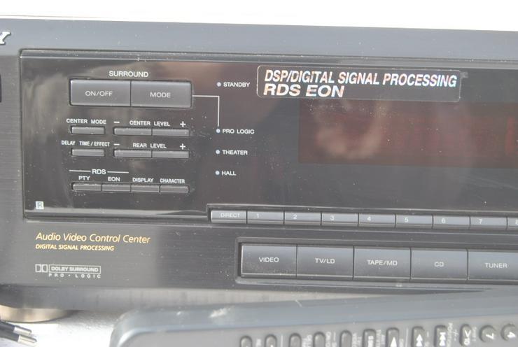 Bild 6: Sony STR-DE 405 Stereo / Dolby Surround Receiver mit Fernbedienung