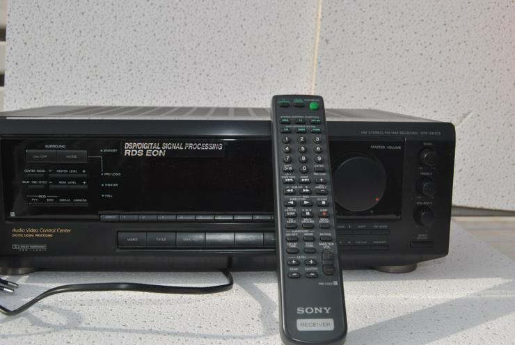 Bild 5: Sony STR-DE 405 Stereo / Dolby Surround Receiver mit Fernbedienung