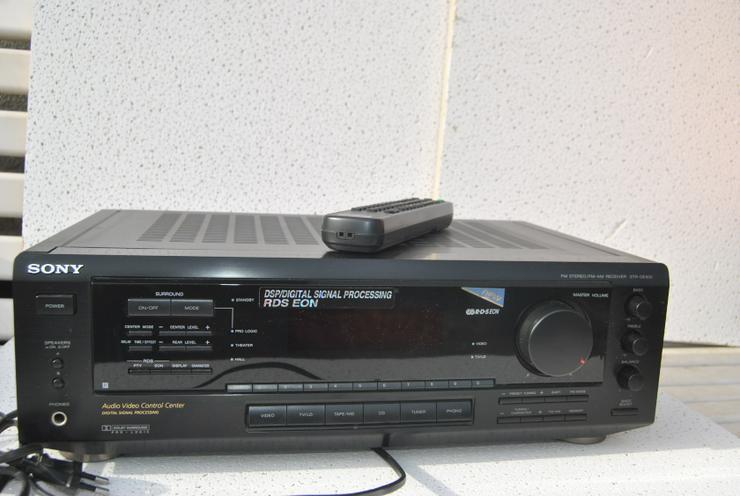 Bild 3: Sony STR-DE 405 Stereo / Dolby Surround Receiver mit Fernbedienung
