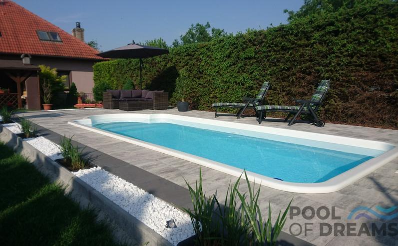 Bild 2: Pool Schwimmbad Schwimmbecken Gartenpool Gfk 7,00x3,00x1,50