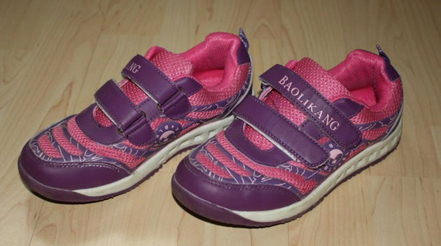 Bild 2: Mädchen Turnschuhe Sneaker Kinder Sportschuhe Halbschuhe lila 34