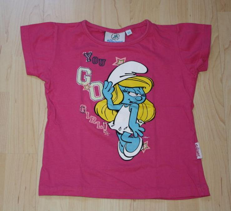 Mädchen T-Shirt Schlümpfe Kinder Kurzarmshirt Schlumpfine 122 NEU - Größen 122-128 - Bild 1