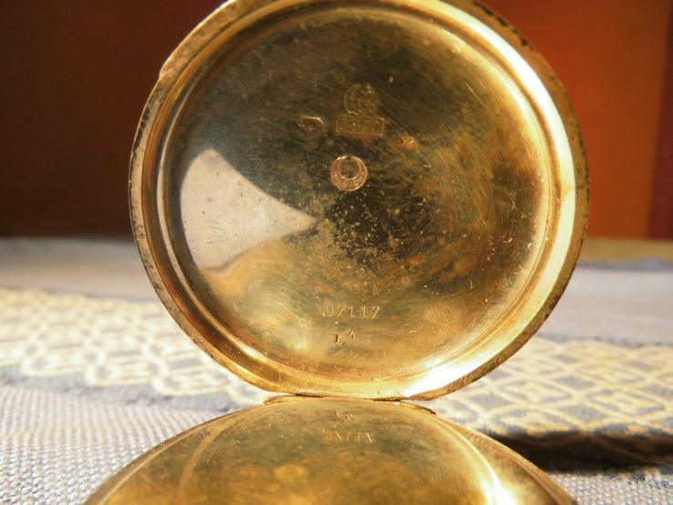 Bild 5: Schöne, antike Taschenuhr aus Silber von Halbmond und Stern um 1900 / Bastler
