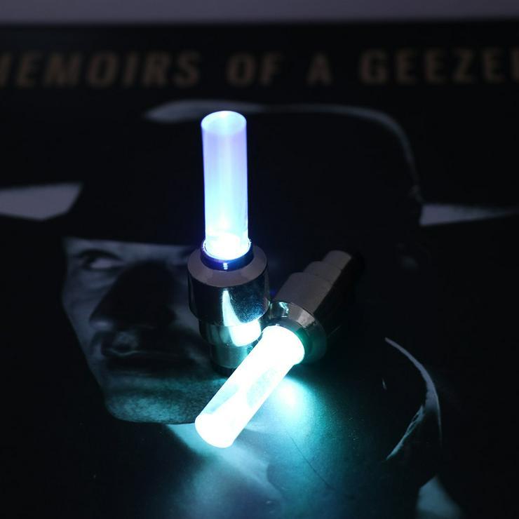 Bild 5: Ventilkappenlicht, mit Adappter für Fahrrad, passend für Auto und Motorrad