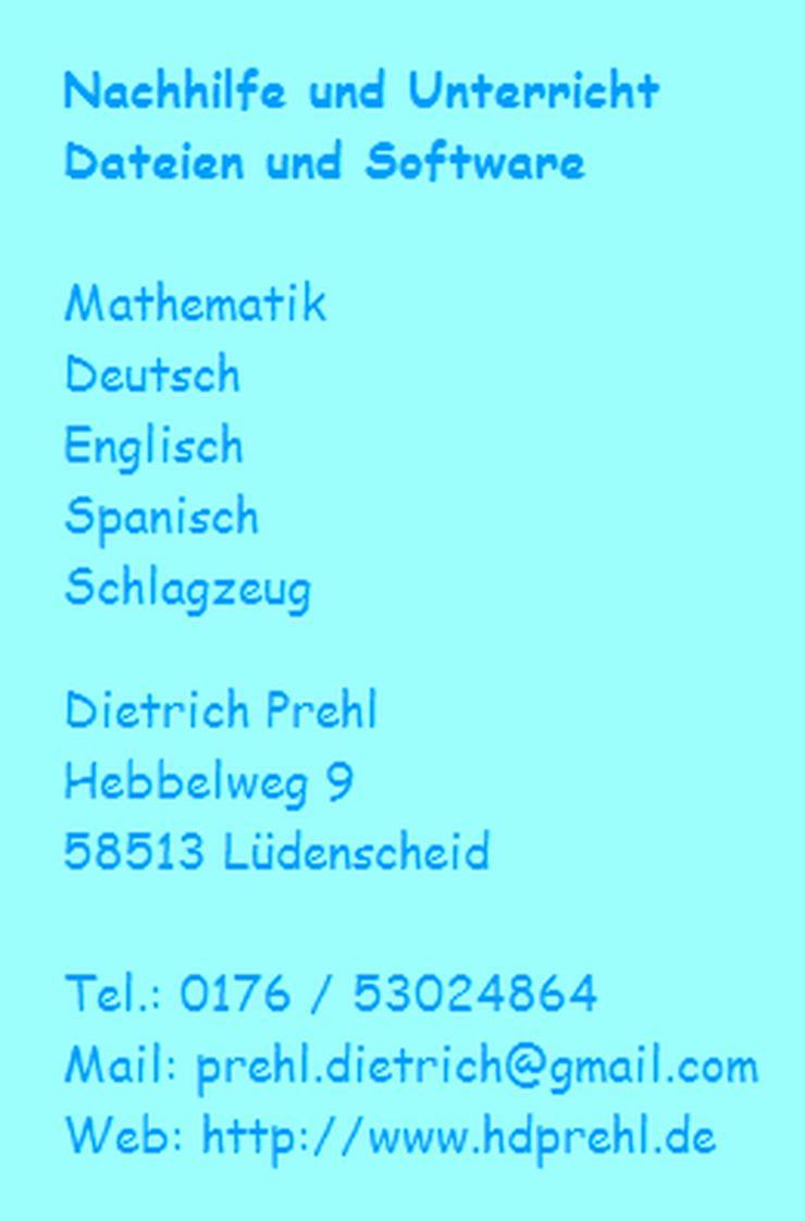 Nachhilfe in Lüdenscheid, Mathematik, Deutsch, Englisch - Sprachkurse - Bild 1