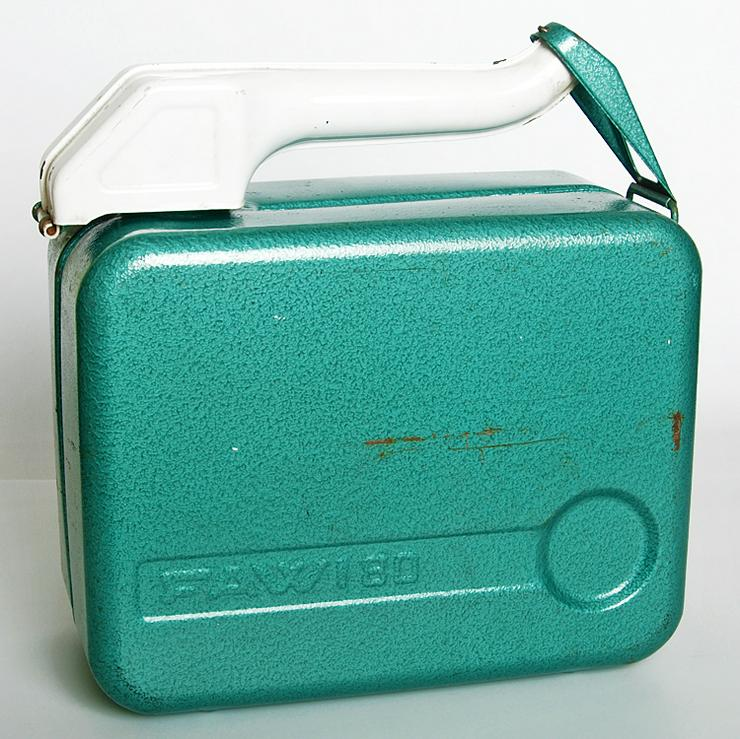 Benzinkanister Stahlblech FAWI 80 10 Liter 70er Jahre 70s Oldtimer Ausrüstung