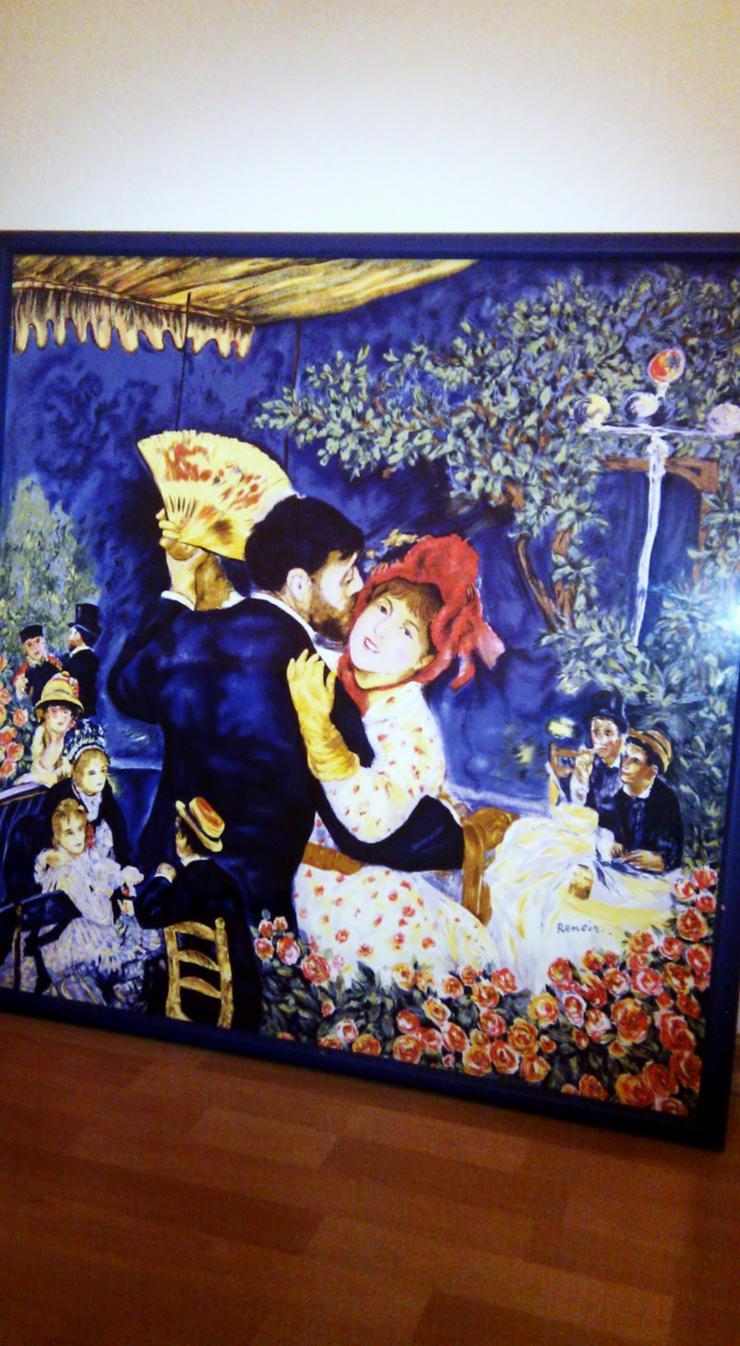 Renoir Druck auf Seide 80x80 cm