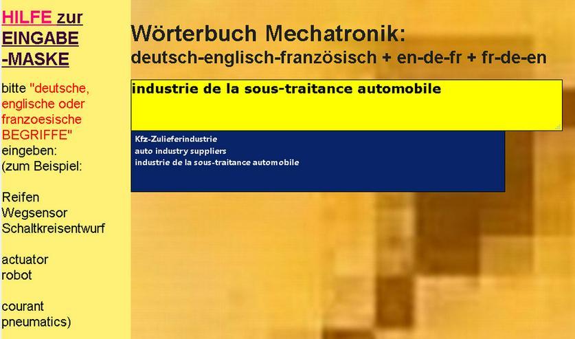 Bild 2: Technik-Wortverbindungen + Abkuerzungen: deutsch-englisch-franzoesisch Kfz-Woerterbuch