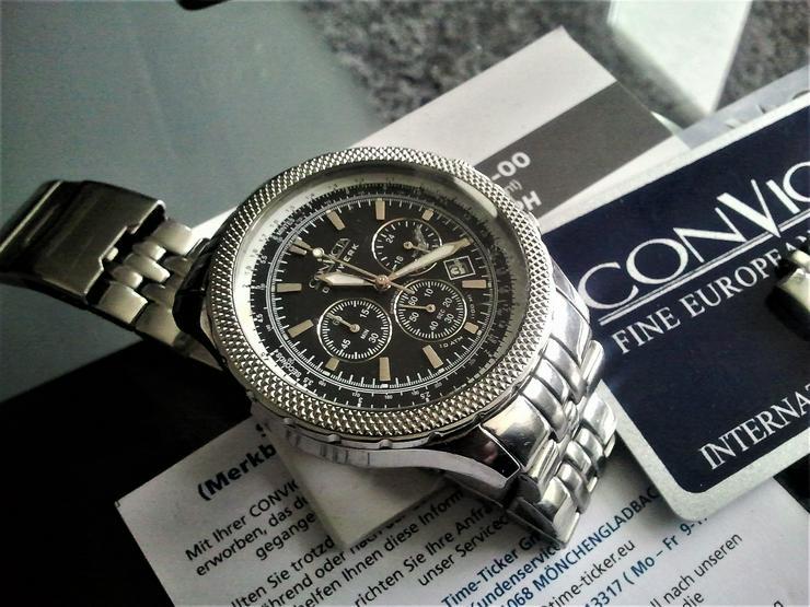 Convicta -Herrenchronograph plus Box Papiere - Herren Armbanduhren - Bild 1