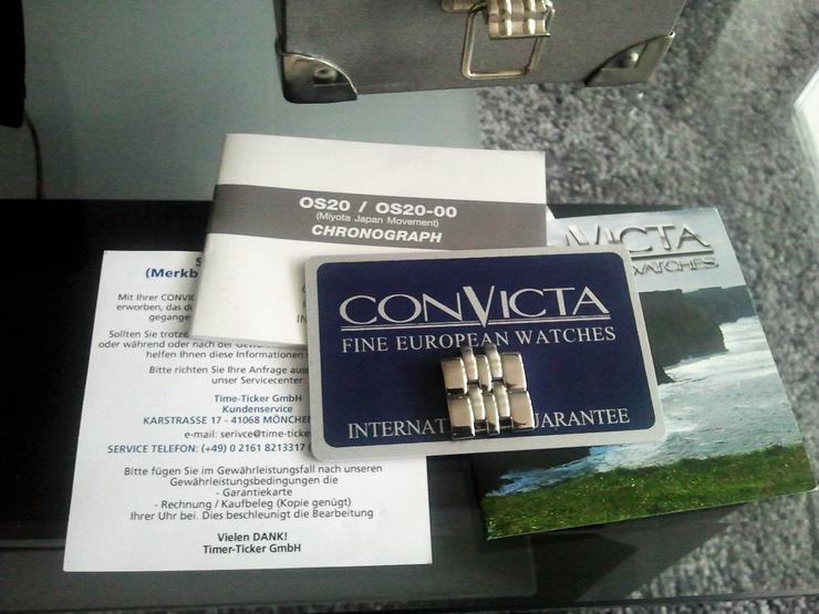 Bild 3: Convicta -Herrenchronograph plus Box Papiere