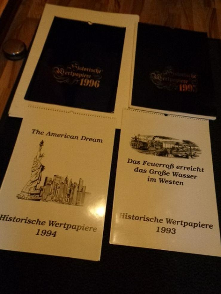 Sammlung alte Aktien Kalender USA und Deutsche sehr gut Erhalten