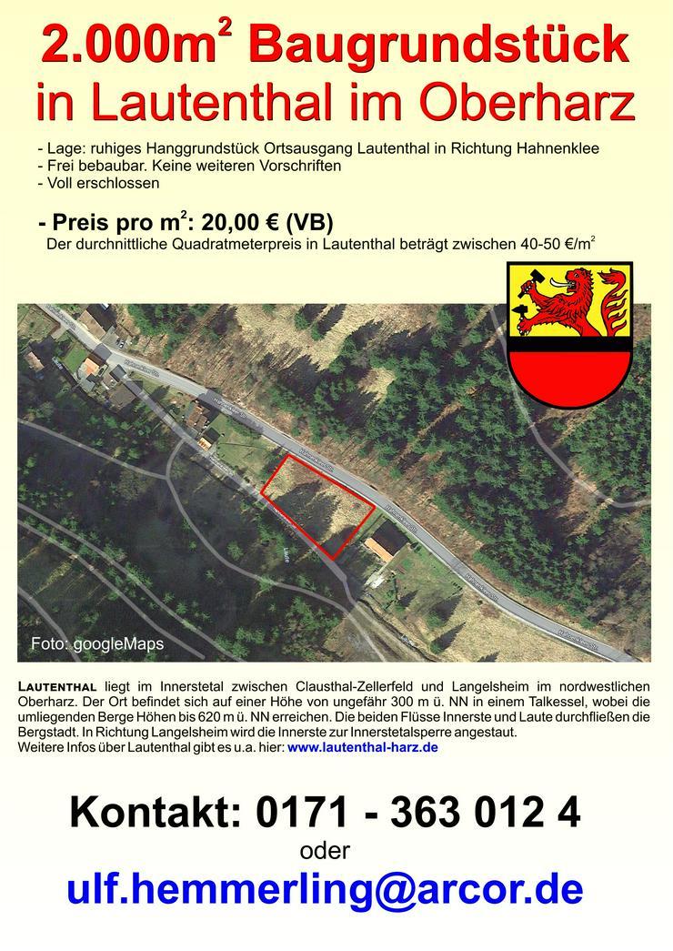 2.000qm Baugründstück in Lautenthal/Oberharz zu verkaufen