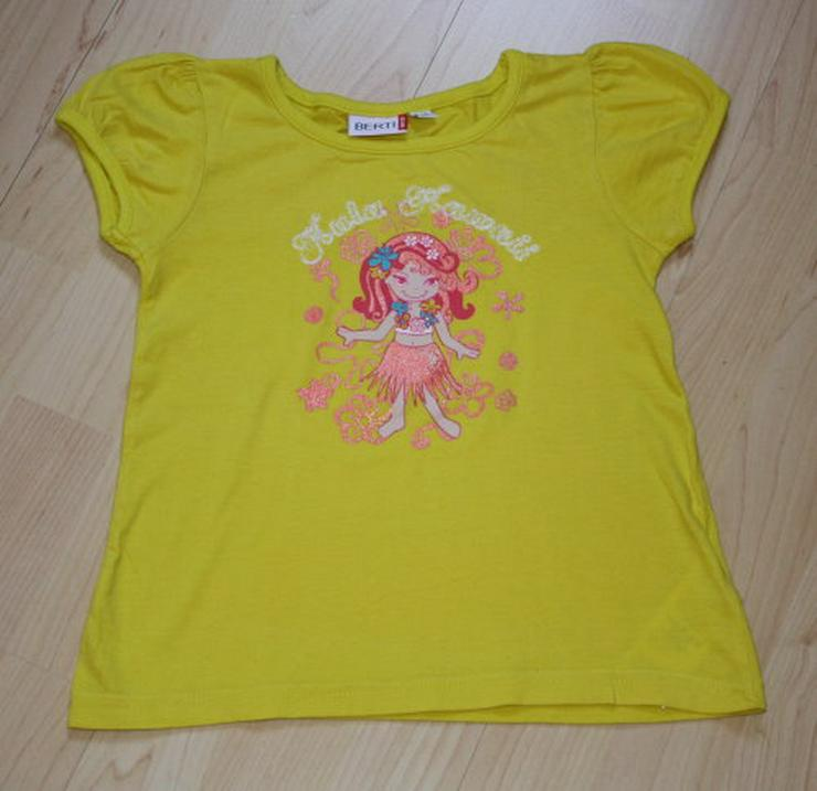 Mädchen Kurzarm T-Shirt Kinder Sommershirt Kurzarmshirt gelb 110