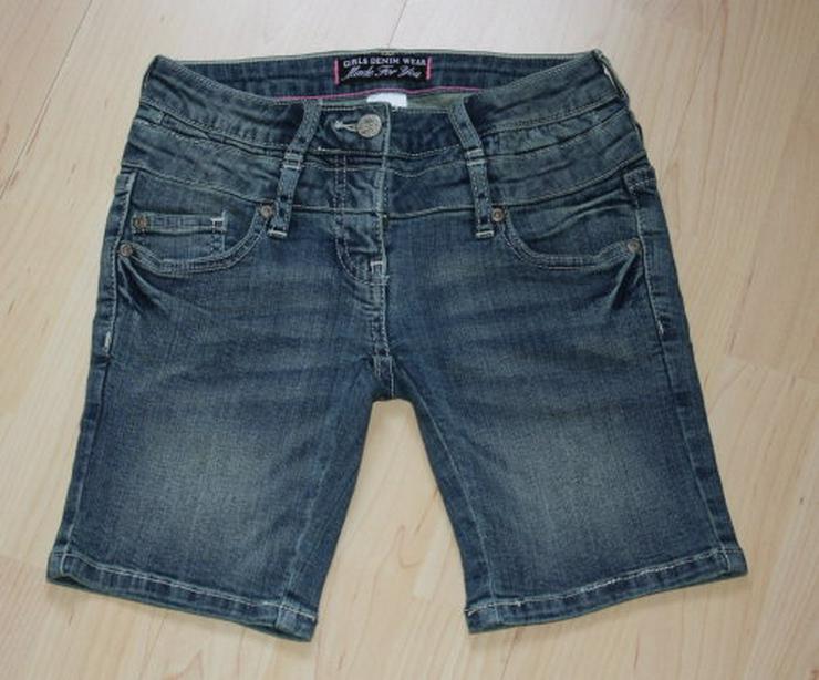 Kurze Mädchen Jeans Shorts C&A Kinder Bermuda Hose Jeanshose 128