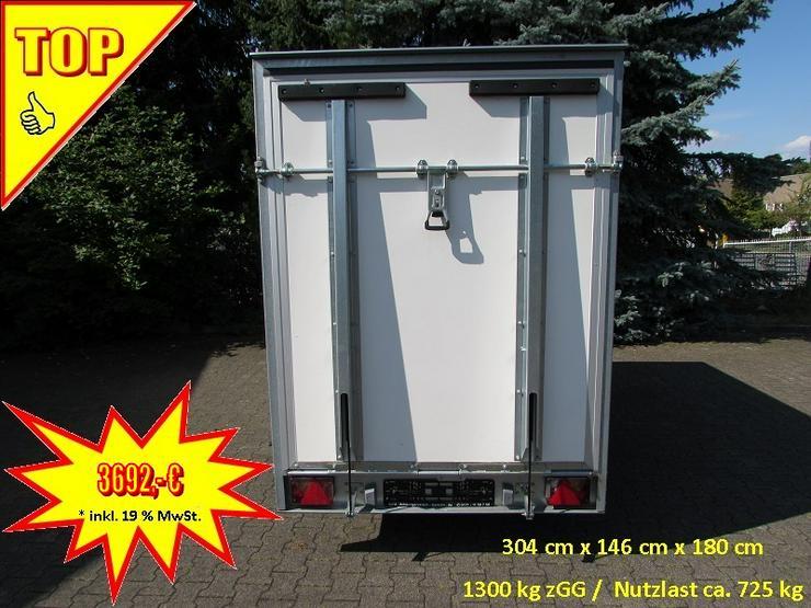 BLYSS Kofferanhänger 1300 kg mit Überfahrwand, Seitentür und EXTRAS