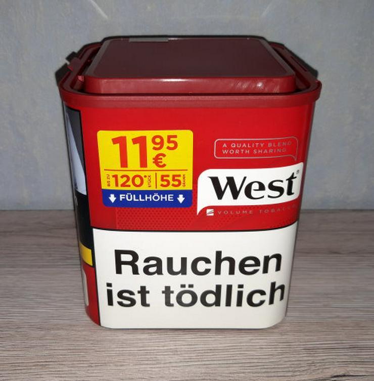 West Volumentabak Red Feinschnitt Zigaretten Tabak Stopftabak 55g