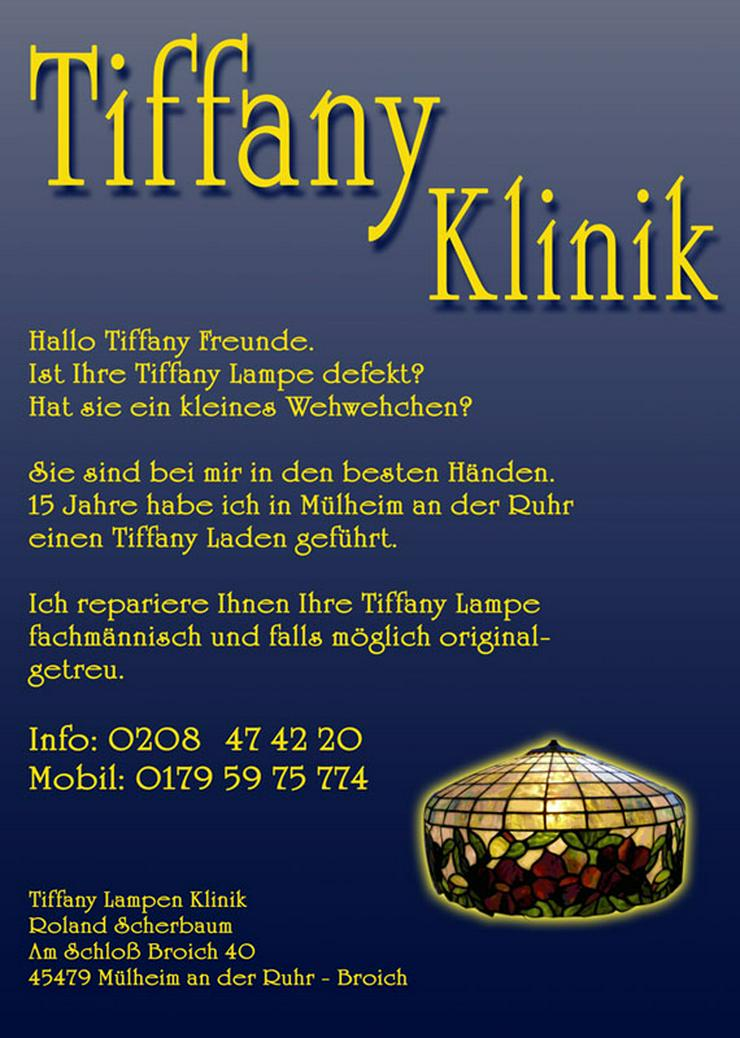 Bild 2: Tiffany Lampenschirm Reparatur Klinik Nrw & Glaskunst Werkstatt Mülheim & Glas Galerie an der Ruhr