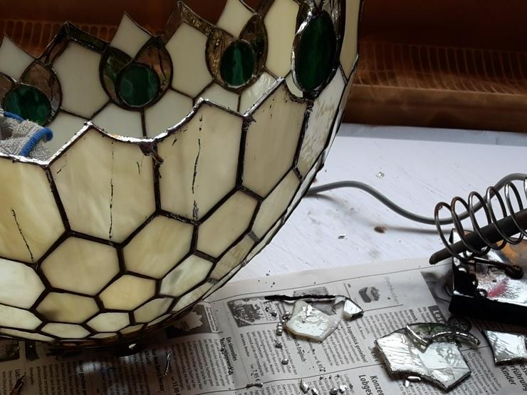 Bild 6: Tiffany Lampenschirm Reparatur Klinik Nrw & Glaskunst Werkstatt Mülheim & Glas Galerie an der Ruhr