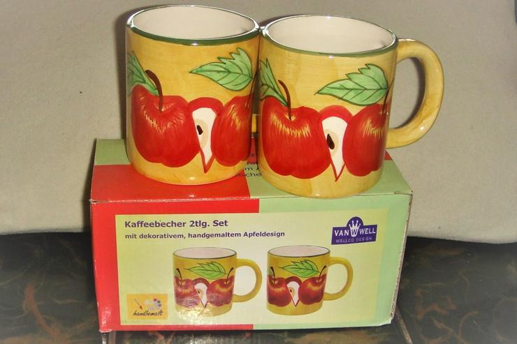 Tasse mit Apfelmotiv