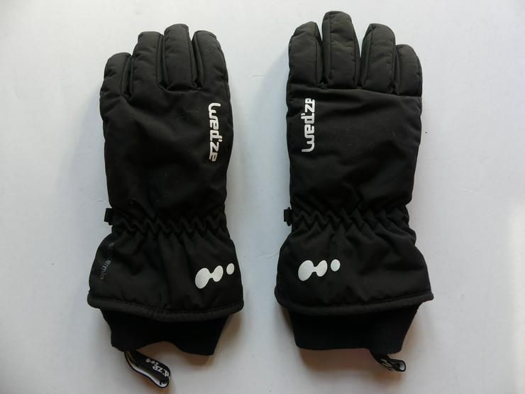 Kinder-Handschuhe schwarz von oxylane wed'ze stratermic (auch zu verschicken)