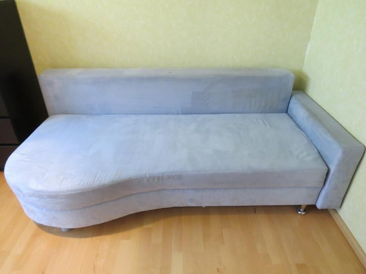 Schlafsofa | Bett | Couch klappar Blau mit Stauraum | gepflegt VHB