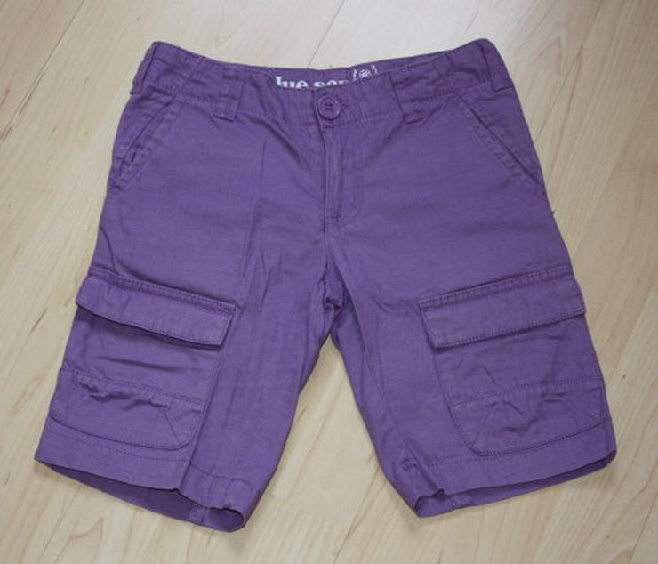 Mädchen Hose Kinder Bermuda Shorts Sommerhose Cargohose lila 128
