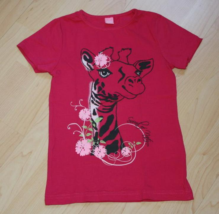 Mädchen Kurzarm T-Shirt Giraffe Kinder Kurzarmshirt pink 116 NEU