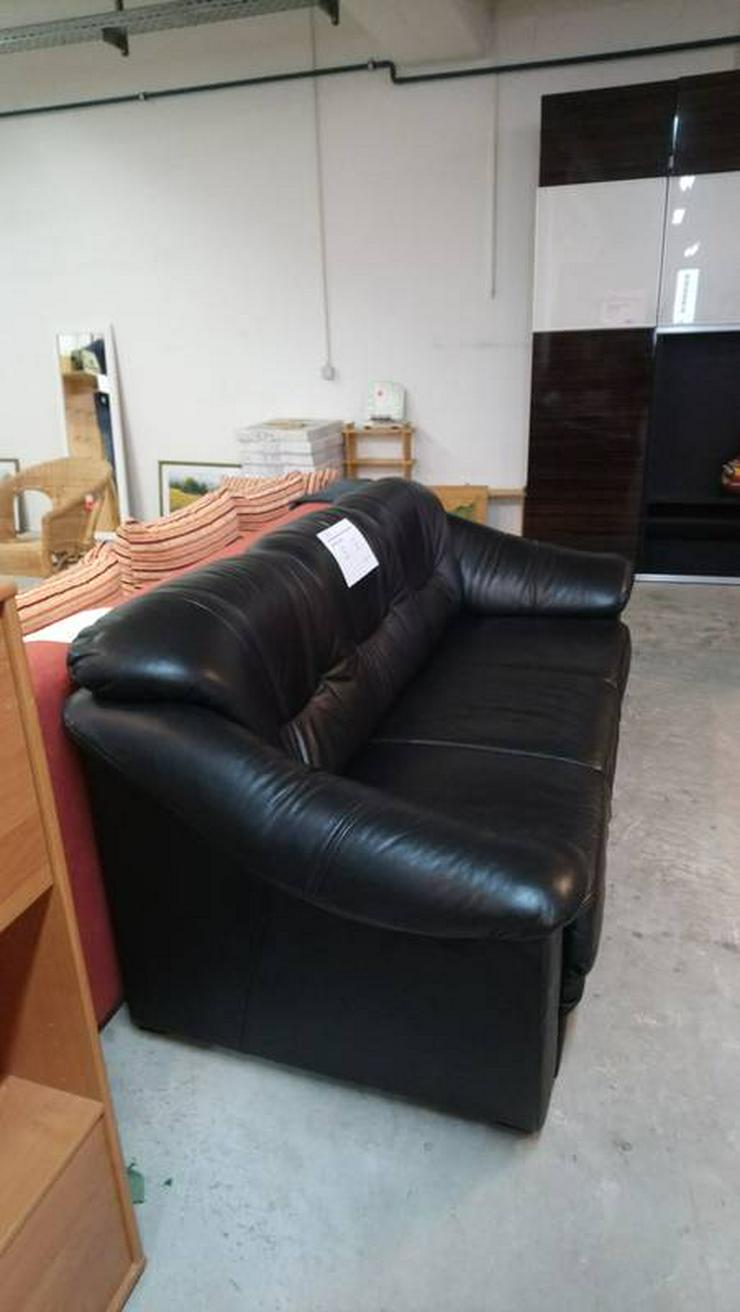Bild 4: Ledercouch, Couch, 3-Sitzer Sofa