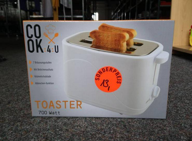 Toaster von COOK4U, weiß
