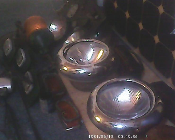 gebr.Vorder Scheinwerfer& 2 Rückstrahler Roubor Lkw