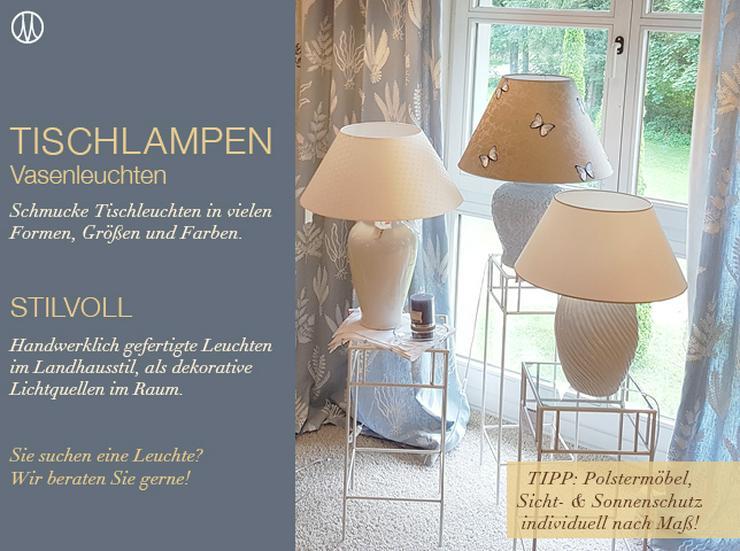 Vasenlampen und Tischleuchten individuell nach Kundenwunsch